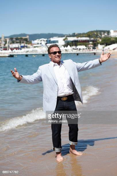 Arnold Schwarzenegger attends Arnold Schwarzenegger and JeanMichel Cousteau Photocall for 'Wonders of the Sea 3D' during the 70th annual Cannes Film...