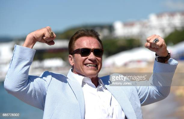 Arnold Schwarzenegger attends photocall for 'Wonders of the Sea 3D' during the 70th annual Cannes Film Festival at Nikki Beach on May 20 2017 in...