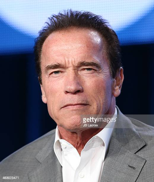 Arnold Schwarzenegger attends the 2014 TCA Winter Press Tour CBS/CW/Showtime Panels at The Langham Huntington Hotel and Spa on January 16 2014 in...