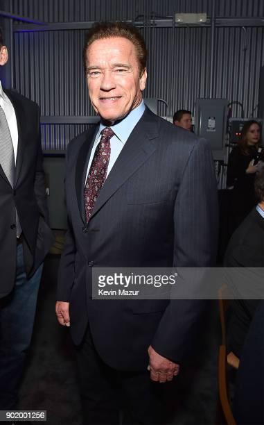 Arnold Schwarzenegger attends the 7th Annual Sean Penn Friends HAITI RISING Gala benefiting J/P Haitian Relief Organization on January 6 2018 in...