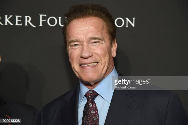 Arnold Schwarzenegger attends the 7th Annual Sean Penn Friends HAITI RISING Gala benefiting J/P Haitian Relief Organization on January 6 2018 in...
