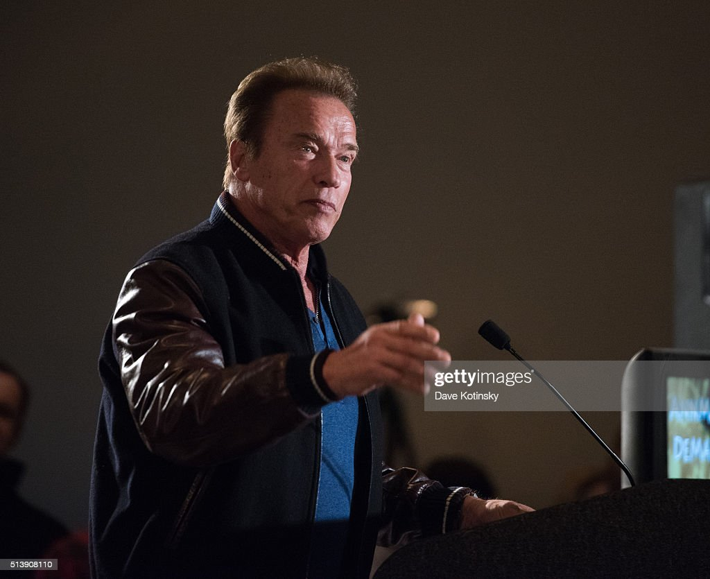 Arnold Schwarzenegger attends the Arnold Sports Festival 2016 on March 5, 2016 in Columbus, Ohio.
