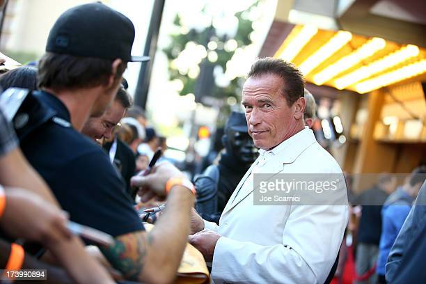 Arnold Schwarzenegger attends the Escape Plan screening and red carpet during ComicCon International 2013 at Reading Cinemas Gaslamp on July 18 2013...