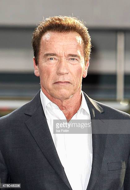 Arnold Schwarzenegger attends the European Premiere of 'Terminator Genisys' at the CineStar Sony Center on June 21 2015 in Berlin Germany