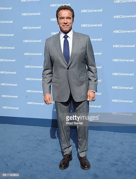 Arnold Schwarzenegger attends the NBCUniversal 2016 Upfront Presentation on May 16 2016 in New York City