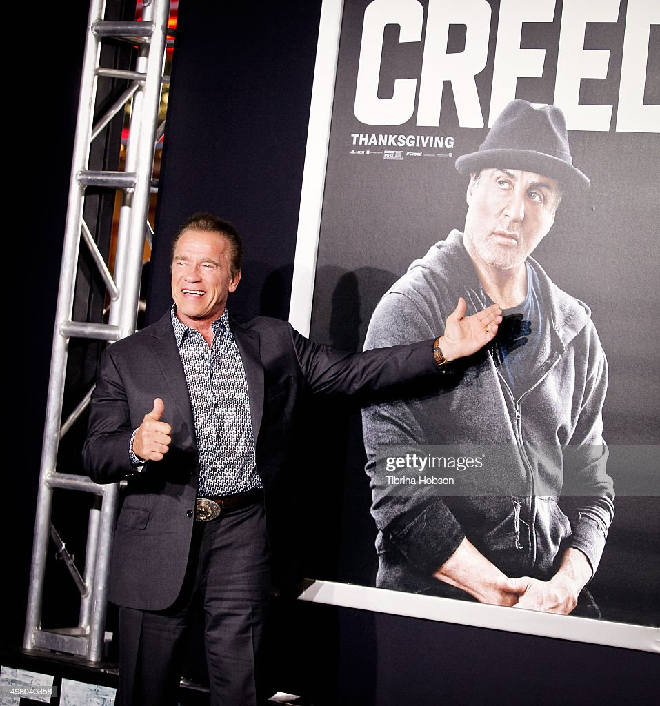 Arnold Schwarzenegger attends the premiere of Warner Bros. Pictures' 'Creed' at Regency Village Theatre on November 19, 2015 in Westwood, California.