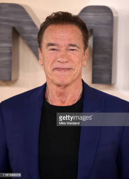 Arnold Schwarzenegger attends the Terminator Dark Fate photocall on October 17 2019 in London England