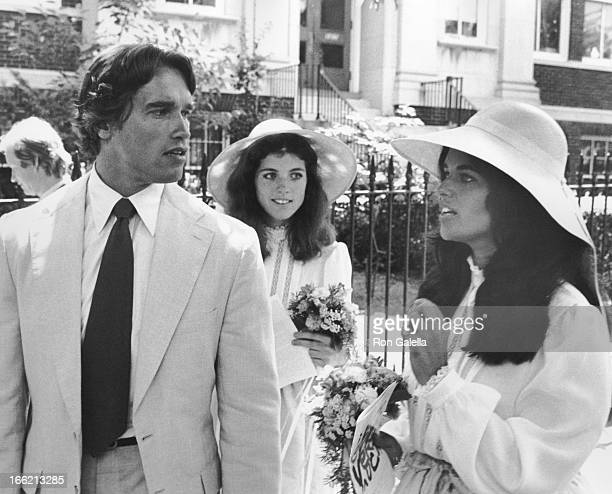 Arnold Schwarzenegger Caroline Kennedy and Maria Shriver attend Arnold SchwarzeneggerCaroline KennedyMaria Shriver on June 14 1980 at the Trinity...