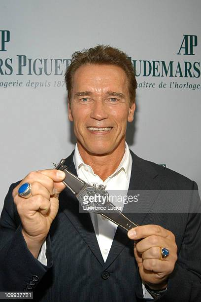 Arnold Schwarzenegger during Arnold Schwarzenegger Hosts the Grand Opening of the Audemars Piguet US Flagship Boutique and Auction Of Limited Edition...