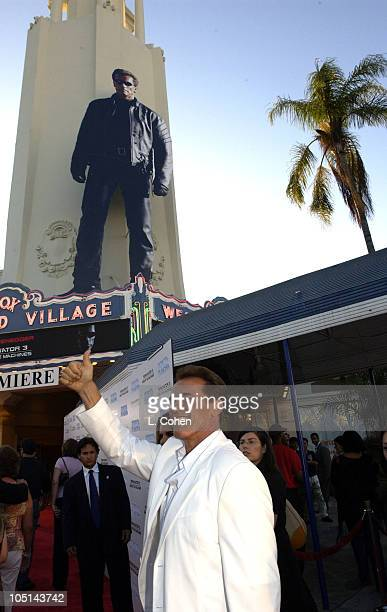 Arnold Schwarzenegger during Terminator 3 Rise of the Machines Los Angeles Premiere Red Carpet at Mann Village in Westwood California United States