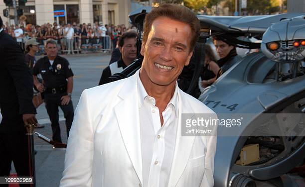 Arnold Schwarzenegger during Terminator 3 Rise of the Machines World Premiere at Mann Bruin in Los Angeles California United States