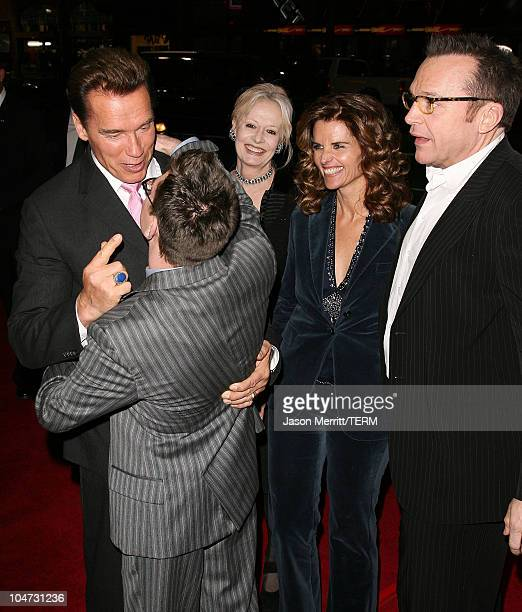 Arnold Schwarzenegger Eric Gores Penelope Spheeris director Maria Shriver and Tom Arnold