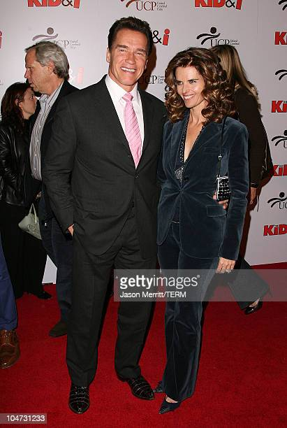 Arnold Schwarzenegger, Governor of California, and wife Maria Shriver