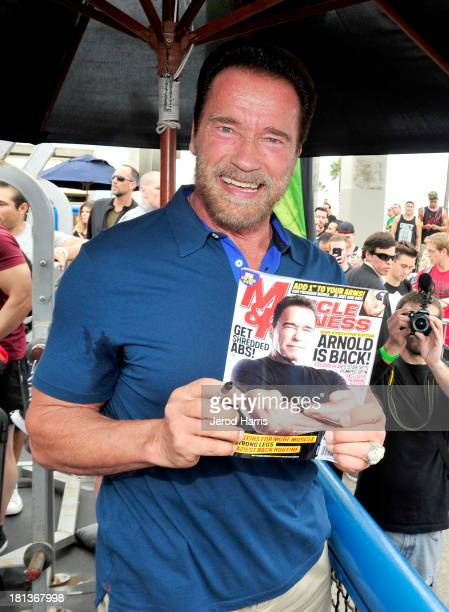 Arnold Schwarzenegger hosts a special body building experience at the famed Muscle Beach Venice to celebrate the launch of the Arnold Series an...