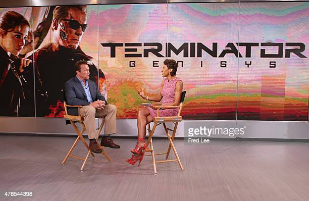 AMERICA Arnold Schwarzenegger is a guest on 'Good Morning America' 6/25/15 airing on the ABC Television Network