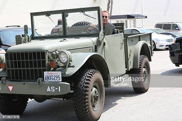Arnold Schwarzenegger is seen in Beverly Hills on May 09 2015 in Los Angeles California