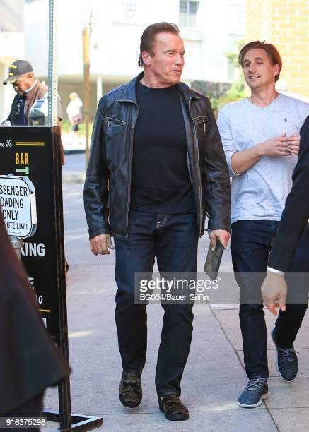 Arnold Schwarzenegger is seen on February 09 2018 in Los Angeles California