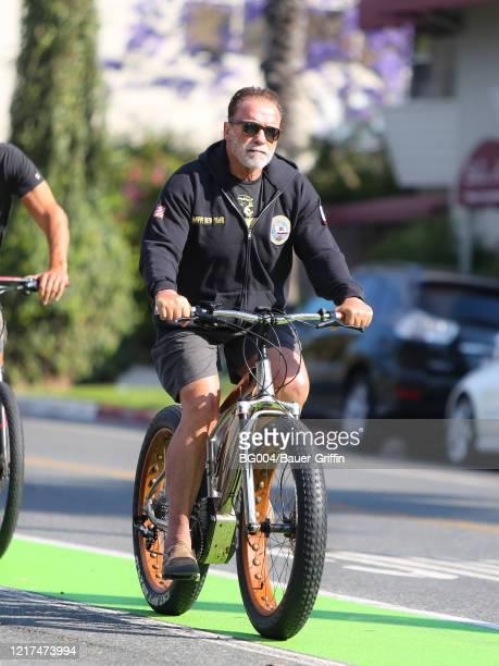 Arnold Schwarzenegger is seen on June 03 2020 in Los Angeles California