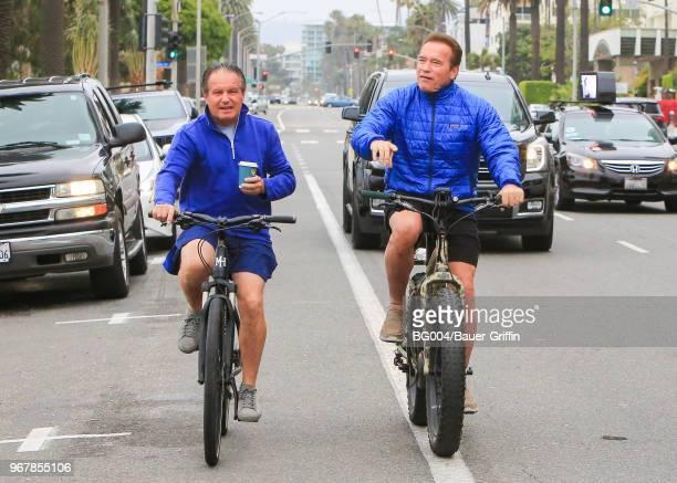 Arnold Schwarzenegger is seen on June 05 2018 in Los Angeles California