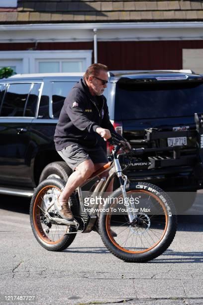 Arnold Schwarzenegger is seen on June 3 2020 in Los Angeles CA