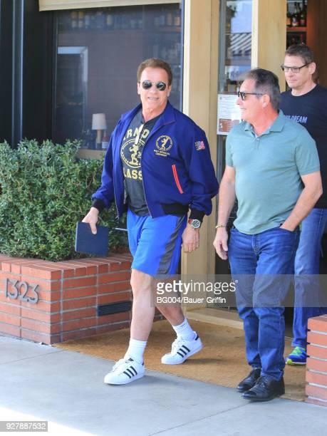 Arnold Schwarzenegger is seen on March 05 2018 in Los Angeles California
