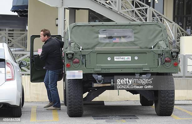 Arnold Schwarzenegger is seen on May 05 2013 in Los Angeles California
