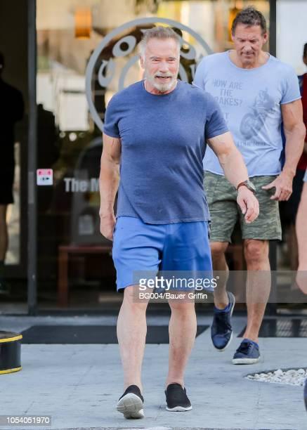 Arnold Schwarzenegger is seen on October 26 2018 in Los Angeles California