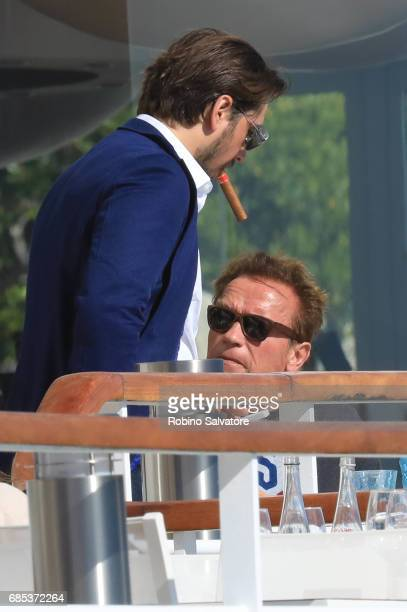 Arnold Schwarzenegger is spotted during the 70th annual Cannes Film Festival at on May 19 2017 in Cannes France