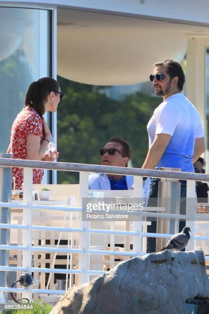 Arnold Schwarzenegger is spotted during the 70th annual Cannes Film Festival at on May 21 2017 in Cannes France