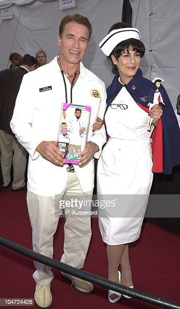Arnold Schwarzenegger Jamie Lee Curtis during 8th Annual Dream Halloween to Benefit Children Affected by Aids Foundation at Santa Monica Airport in...