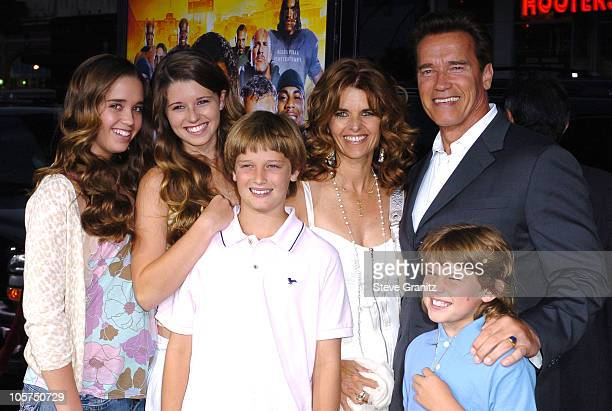 """Arnold Schwarzenegger, Maria Shriver and Family during """"The Longest Yard"""" Los Angeles Premiere - Arrivals at Grauman's Chinese Theatre in Hollywood,..."""