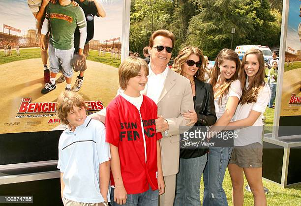 Arnold Schwarzenegger Maria Shriver and family during 'The Benchwarmers' Los Angeles Premiere Arrivals and Baseball Game at Sunset Canyon Recreation...