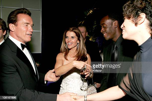 Arnold Schwarzenegger Maria Shriver Don Cheadle and wife