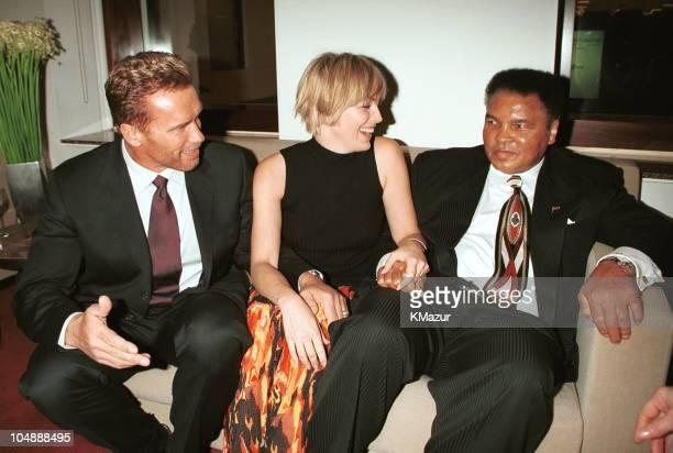 Arnold Schwarzenegger Sharon Stone and Muhammad Ali