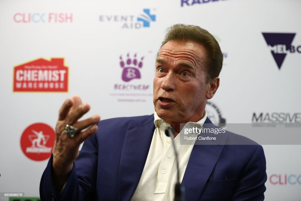 Arnold Schwarzenegger Arrives For Arnold Sports Festival Australia : News Photo