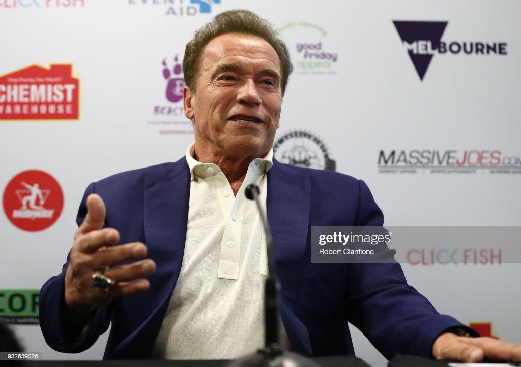 Arnold Schwarzenegger Arrives For Arnold Sports Festival Australia : News Photo