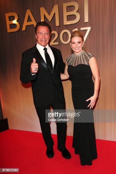 Arnold Schwarzenegger with his girlfriend Heather Milligan during the Bambi Awards 2017 at Stage Theater on November 16 2017 in Berlin Germany