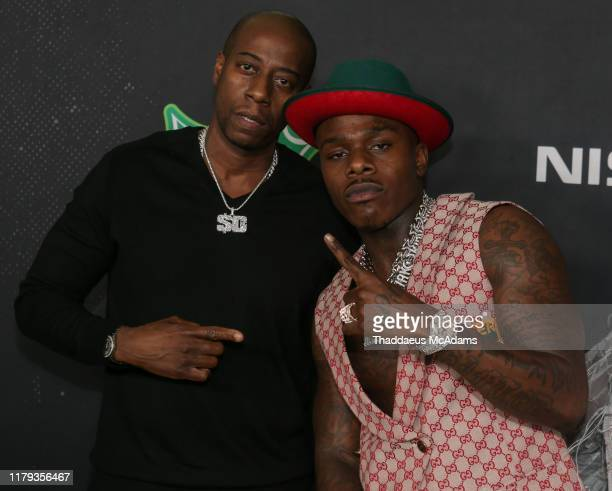 Arnold Taylor and Da Baby arrive to the 2019 BET Hip Hop Awards on October 05 2019 in Atlanta Georgia