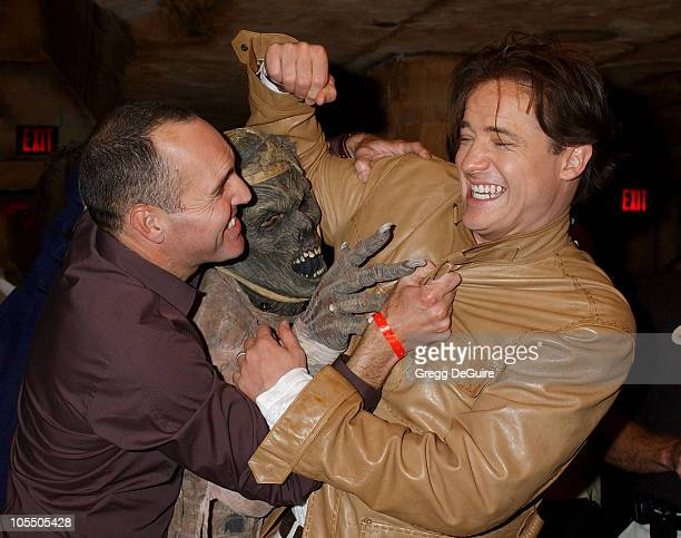 Arnold Vosloo and Brendan Fraser during 'The Revenge Of The Mummy The Ride' Opening At Universal Studios at Universal Studios in Universal City...