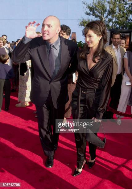 Arnold Vosloo and his wife Sylvia Ahi arrive at the premiere of The Mummy Returns