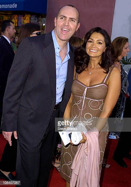 Arnold Vosloo and wife Sylvia Ahi during Van Helsing Los Angeles Premiere Arrivals at Universal Amphitheatre in Universal City California United...