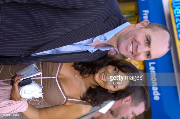 Arnold Vosloo and wife Sylvia Ahi during Van Helsing World Premiere Red Carpet at Universal Ampitheater in Universal City California United States