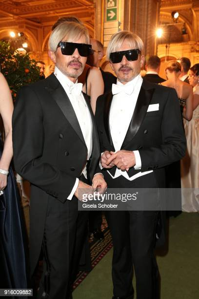 Arnold Wess and Oskar Wess during the Opera Ball Vienna at Vienna State Opera on February 8 2018 in Vienna Austria
