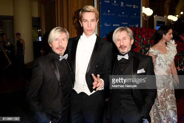 Arnold Wess Florian Wess and Oskar Wess during the Semper Opera Ball 2018 at Semperoper on January 26 2018 in Dresden Germany
