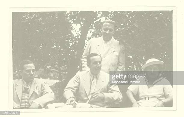 Arnoldo Mondadori and Walt Disney with George Kamen Meina 14 July 1935