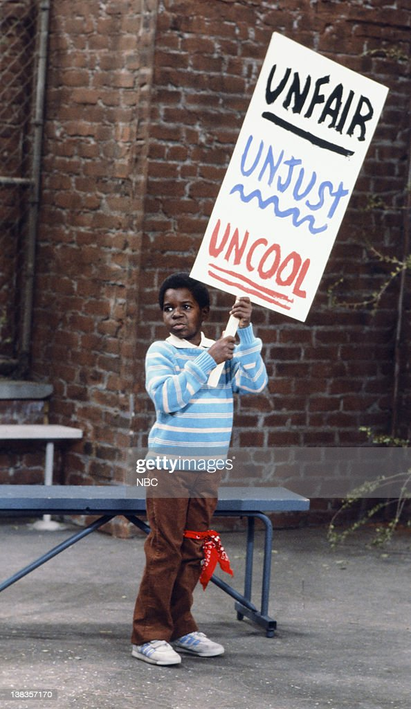 RENT STROKES -- 'Arnolds Strike' Episode 5 -- Pictured: Gary Coleman as Arnold Jackson