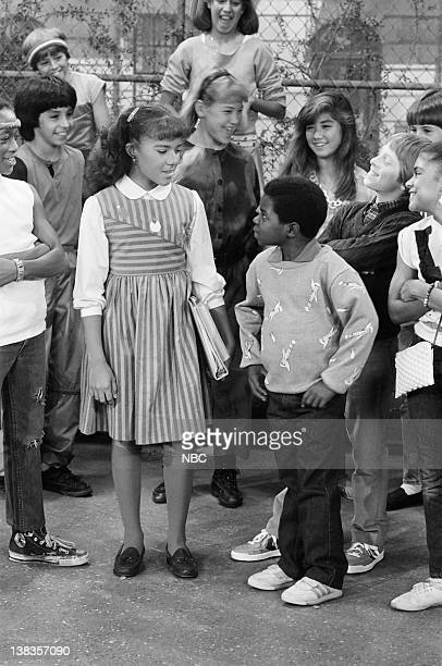 RENT STROKES Arnolds Strike Episode 5 Pictured Nikki Swasey as Lisa Hayes Gary Coleman as Arnold Jackson