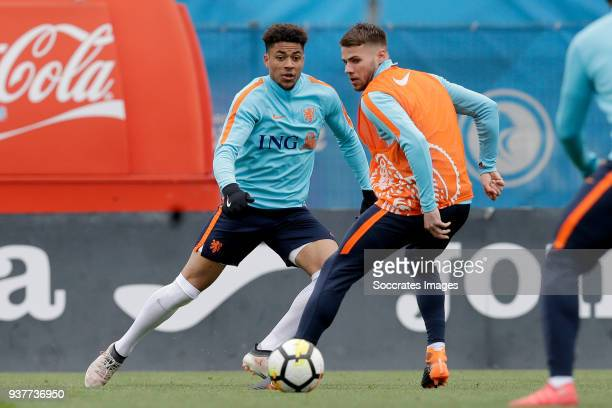 Arnout Groeneveld of Holland U21 Bart Nieuwkoop of Holland U21 during the Training Holland U21 at the Ciutat Esportiva Dani Jarque on March 25 2018...