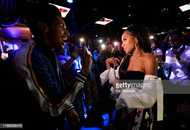 Arnstar and Lil Mama attend as WEtv celebrates the premieres of Growing Up Hip Hop New York and Untold Stories of Hip Hop on August 19 2019 in New...