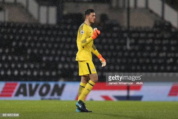 Aro Muric of Manchester City during the Premier League 2 match between Derby County and Manchester City on March 9 2018 in Derby England